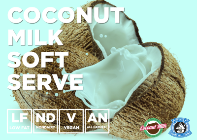 Coconut Milk Soft Serve